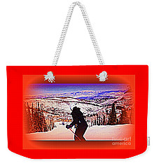 Deer Valley Utah Powder Weekender Tote Bag