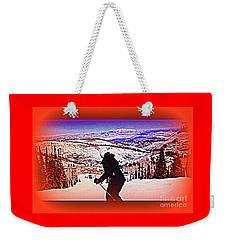 Deer Valley Utah Powder Weekender Tote Bag by Richard W Linford