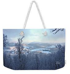 Deer Valley Winter View Weekender Tote Bag by Meta Gatschenberger