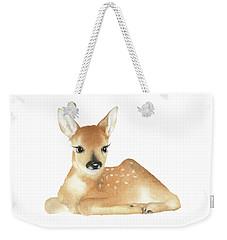 Deer Watercolor Weekender Tote Bag by Taylan Apukovska
