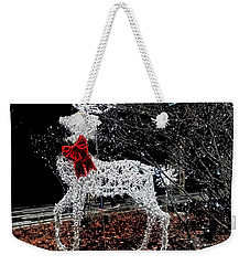 Deer Winter Weekender Tote Bag