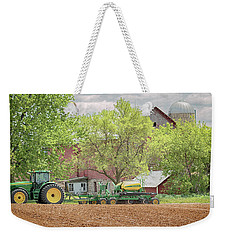 Weekender Tote Bag featuring the photograph Deere On The Farm by Susan Rissi Tregoning
