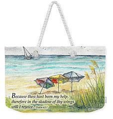 Deerfield Beach Umbrellas Psalm 63 Weekender Tote Bag