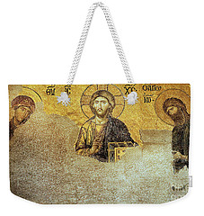 Deesis Mosaic Hagia Sophia-christ Pantocrator-judgement Day Weekender Tote Bag