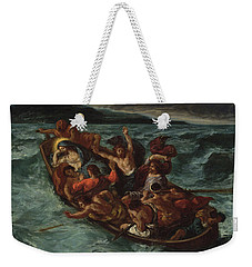 Weekender Tote Bag featuring the painting Delacroix Christ Asleep by Granger