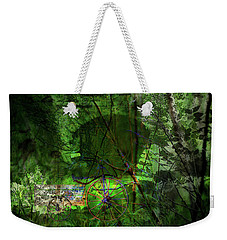 Weekender Tote Bag featuring the digital art Delaware Green by Richard Ricci