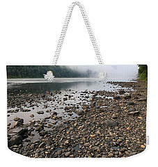 Weekender Tote Bag featuring the photograph Delaware River Mist by Helen Harris