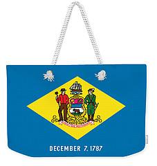 Delaware State Flag Weekender Tote Bag by Robert Banach