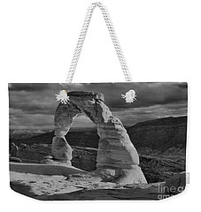 Delicate Arch Black And White Sunset Shadow Weekender Tote Bag