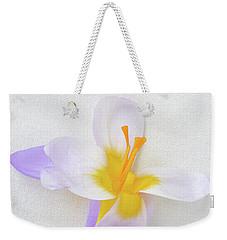 Delicate Art Of Crocus Weekender Tote Bag by Terence Davis
