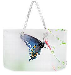 Delicate Azure Butterfly  Weekender Tote Bag