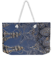 Weekender Tote Bag featuring the digital art Delicate Fractal by Melissa Messick