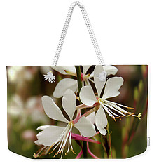 Delicate Gaura Flowers Weekender Tote Bag by Joann Copeland-Paul