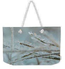 Delicate Morning Frost  Weekender Tote Bag