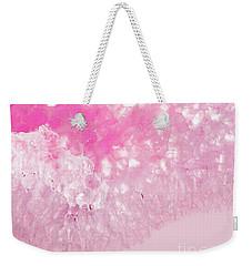 Delicate Pink Agate Weekender Tote Bag