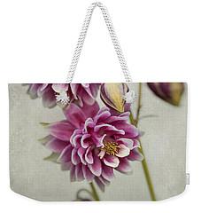 Delicate Pink Columbine Weekender Tote Bag