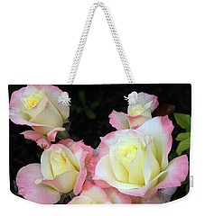 Delicate Roses Weekender Tote Bag by Ellen Tully