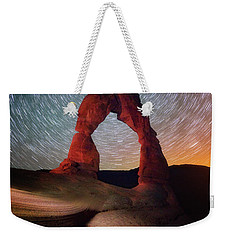 Weekender Tote Bag featuring the photograph Delicate Spin by Darren White