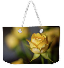 Delicate Yellow Rose  Weekender Tote Bag by Terry DeLuco