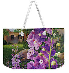 Delightful Delphiniums Weekender Tote Bag