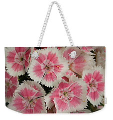 Weekender Tote Bag featuring the photograph Delightful Dianthus by Jean Noren