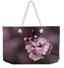 Delightful Pink Prunus Flowers Weekender Tote Bag