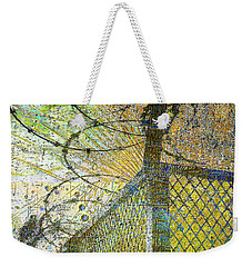Weekender Tote Bag featuring the mixed media Deliverance by Tony Rubino