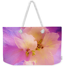 Delphinium Abstract Weekender Tote Bag