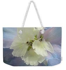 Delphinium Macro Weekender Tote Bag