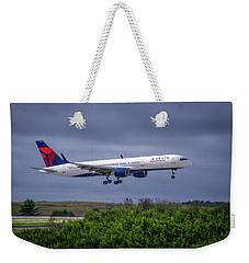 Delta Air Lines 757 Airplane N557nw Art Weekender Tote Bag by Reid Callaway