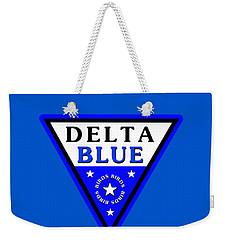 Weekender Tote Bag featuring the digital art Delta Bluebirds by Dave Luebbert