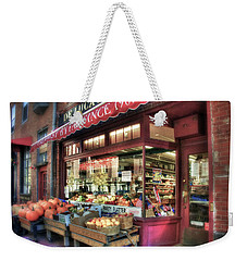 Weekender Tote Bag featuring the photograph Deluca's Market - Boston by Joann Vitali