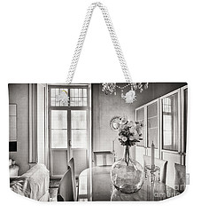 Weekender Tote Bag featuring the photograph Demijohn And Window Cadiz Spain by Pablo Avanzini