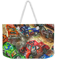 Demo Derby One Weekender Tote Bag by Jame Hayes