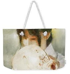 Weekender Tote Bag featuring the digital art Demure by Greg Collins