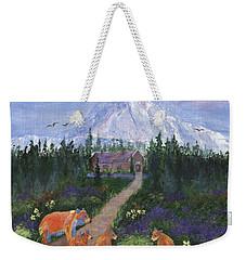 Weekender Tote Bag featuring the painting Denali by Jamie Frier