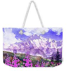 Denali With Fireweed Weekender Tote Bag