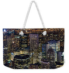 Weekender Tote Bag featuring the photograph Dencity II by Alex Lapidus