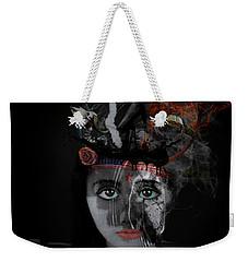 Weekender Tote Bag featuring the digital art Denial's Child by Nola Lee Kelsey
