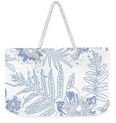 Denim Fern Batik Outline Weekender Tote Bag