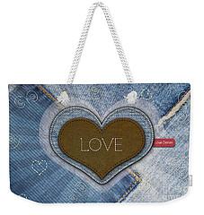 Denim Valentines Card Weekender Tote Bag