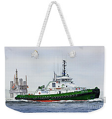 Weekender Tote Bag featuring the painting Denise Foss by James Williamson