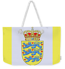 Weekender Tote Bag featuring the drawing Denmark Coat Of Arms by Movie Poster Prints