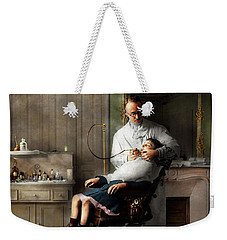 Weekender Tote Bag featuring the photograph Dentist - Good Oral Hygiene 1918  by Mike Savad