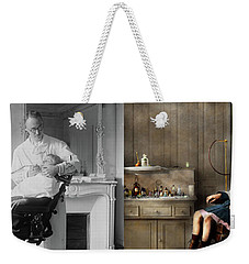 Weekender Tote Bag featuring the photograph Dentist - Good Oral Hygiene 1918 - Side By Side by Mike Savad