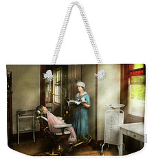 Weekender Tote Bag featuring the photograph Dentist - Patients Is A Virtue 1920 by Mike Savad