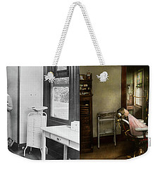 Weekender Tote Bag featuring the photograph Dentist - Patients Is A Virtue 1920 - Side By Side by Mike Savad