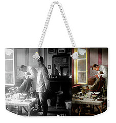 Weekender Tote Bag featuring the photograph Dentist - The Horrors Of War 1917 - Side By Side by Mike Savad