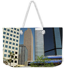 Weekender Tote Bag featuring the photograph Denver Architecture by Frank Romeo
