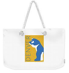 Denver Blue Bear/gold Weekender Tote Bag